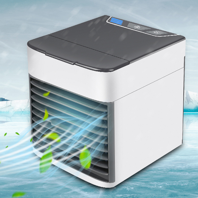 Office Home USB Mini Portable Air Conditioner Humidifier Purifier 3 Gears Light Desktop Air Cooling Fan Air Cooler Hvac Grille