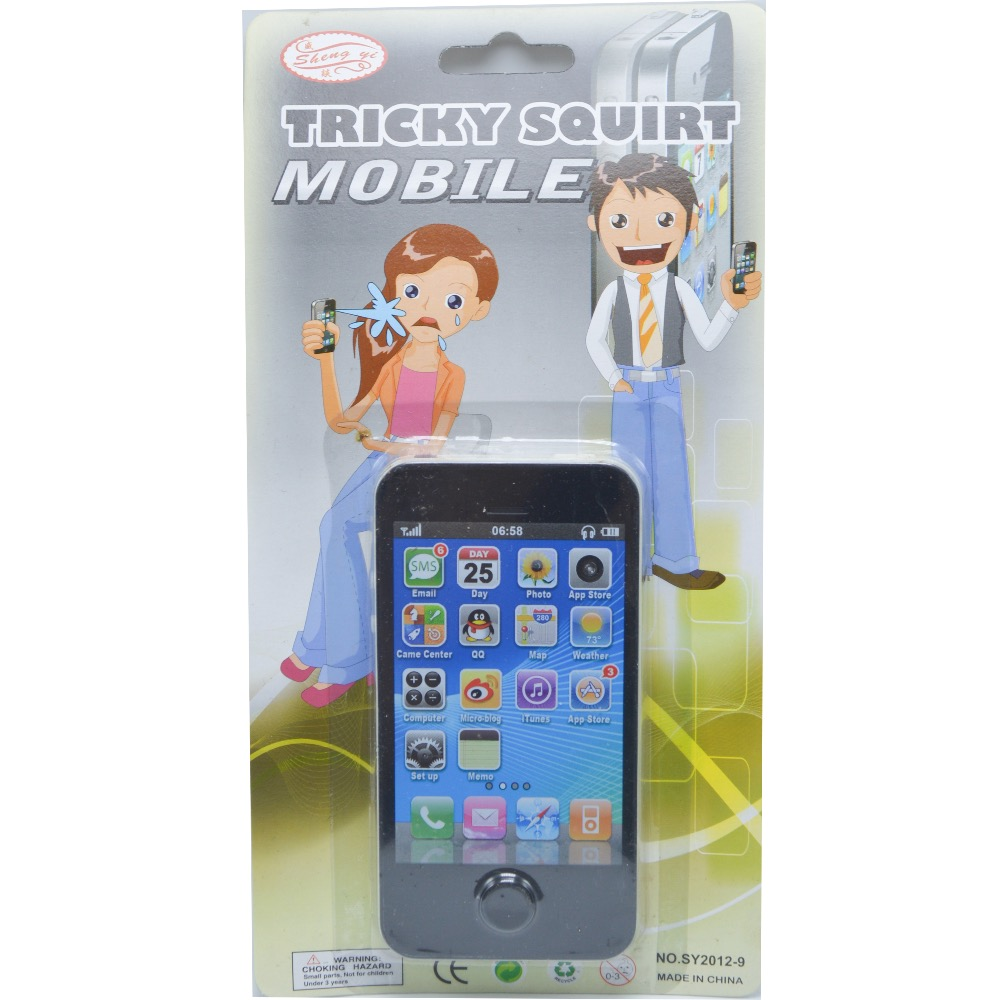 1PCS Squirt Phone Fake mobile phone Joke Prank Trick Toy ...