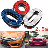 3 Color 2 5m Car Front Bumper Lip Splitter Chin Spoiler Skirt Rubber Protector Body Kit