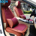 High quality Leather Universal Car Seat cushion with lumbar support cushion cover back seat cover car styling four season use