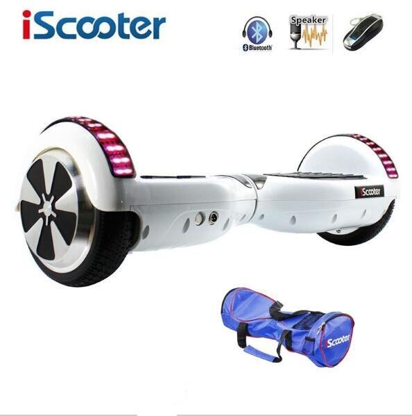 Цена за Bluetooth Hoverboard Электрический Скейтборд 2 Колеса Смарт рулевого колеса Самостоятельного Баланса Скутер Баланс Hover доска со СВЕТОДИОДНОЙ UL2272
