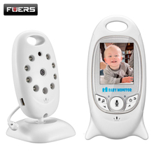 "Fuers 2"" Wireless Baby Monitor Camera with 8 Lullaby Room Temperature Monitoring 2 Way Talk Portable Video Security Camera"