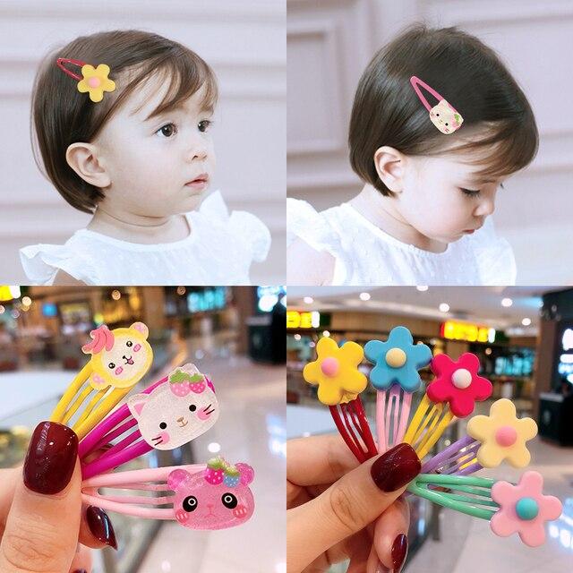 10/15 Pcs/Set Girls Cute Cartoon Animals Fruit 5 cm Hairpins Children Lovely Hair Clips Barrettes Headband Kids Hair Accessories 1
