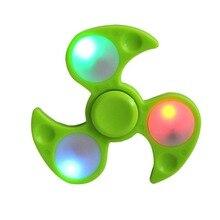 อยู่ไม่สุขปั่นแสงมือปั่นนิ้วปินเนอร์อยู่ไม่สุขของเล่นเรืองแสงGyroแบริ่งเด็กตลกของขวัญใหม่