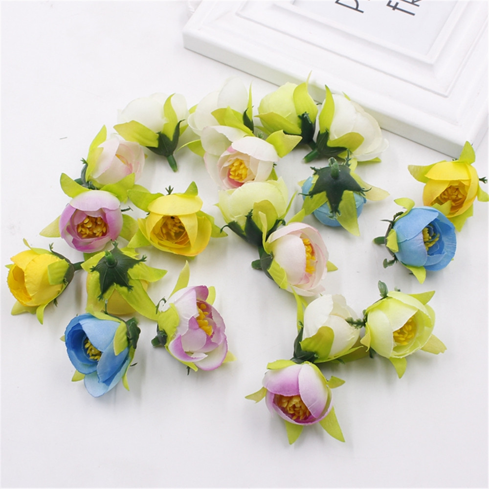 Cheap 2cm 6pcs silk artificial rose fake flower bouquet for diy cheap 2cm 6pcs silk artificial rose fake flower bouquet for diy wedding party simulation table decorative wreath in artificial dried flowers from home dhlflorist Images