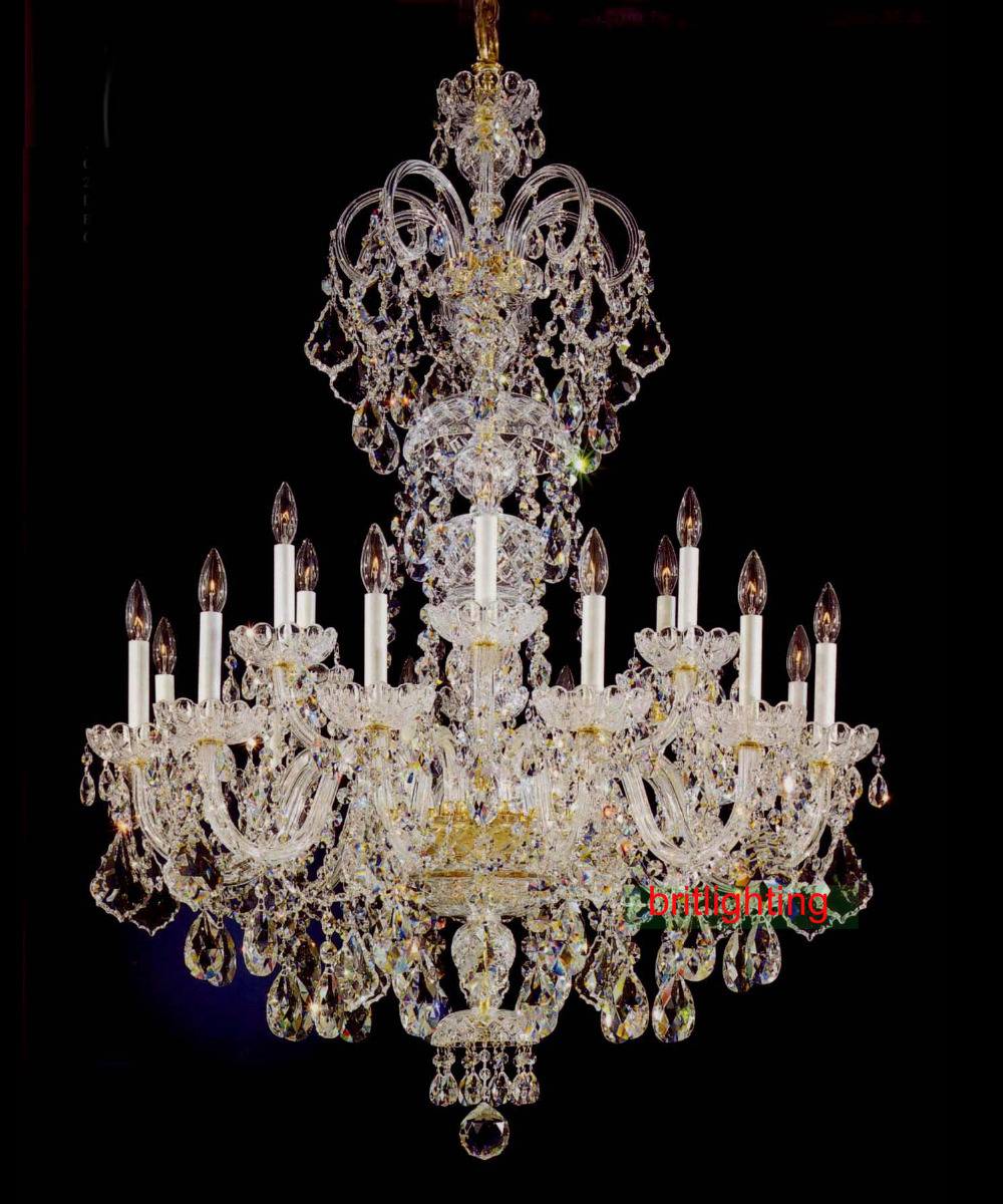 Buy large crystal chandelier entrance hall lighting luxury crystal light - Lighting and chandeliers ...