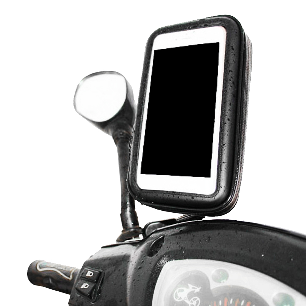 360 Degree Rotation Motorcycle Phone Handlebar Mount Holder Waterproof Zipper Bag For Galaxy Note 5