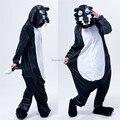 Lobo Onesies pijamas sudaderas con capucha del mono adultos Cosplay disfraces para Halloween y carnaval