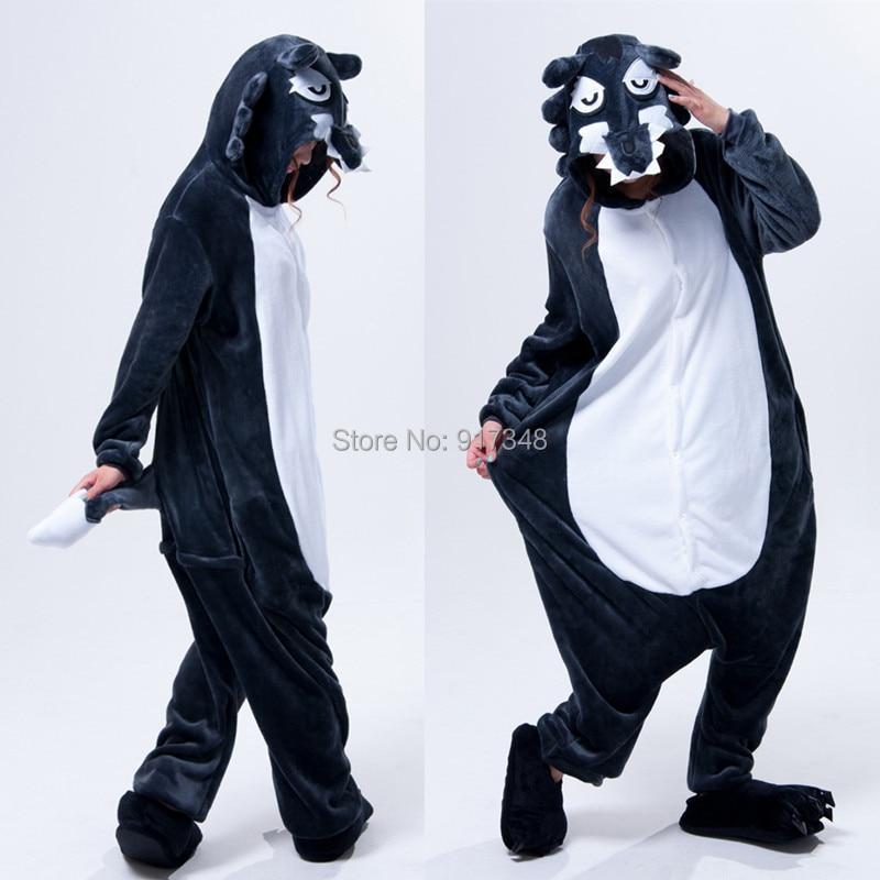 Wolf Onesies Pijamas Jumpsuit Hoodies Adultos Cosplay Disfraces de - Disfraces