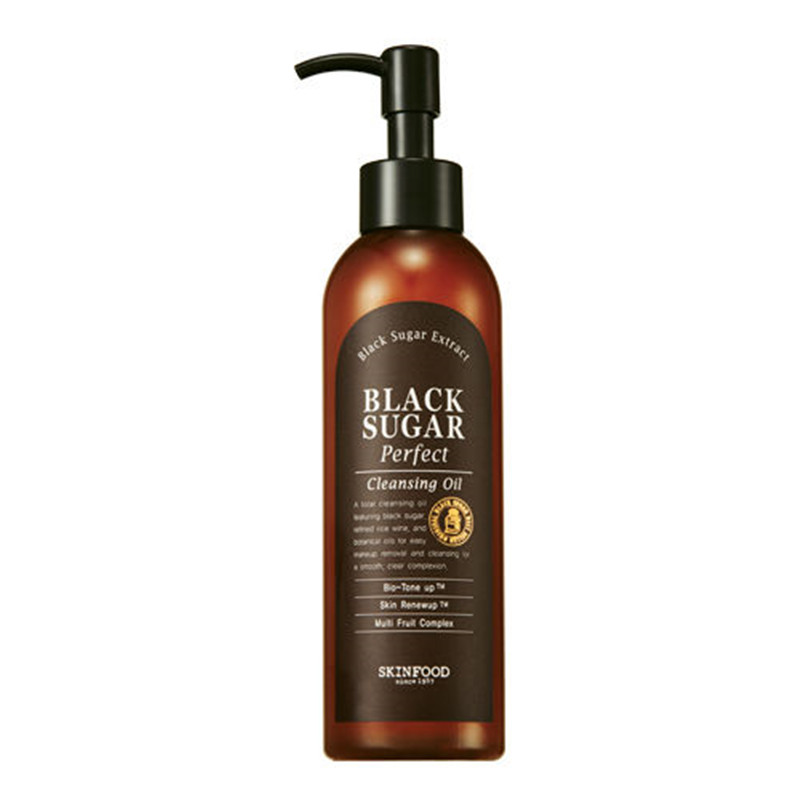 SKINFOOD Black Sugar Perfect Cleansing Oil 200mL Deep Cleansing Exfoliant Moisturizing Skin Texture Trim 4 in 1 Cleansing Oil three ems balancing cleansing oil 200ml
