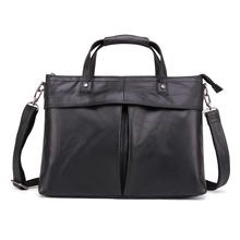 Brand New Cow Genuine Leather Business Men's Briefcase Male Shoulder Bag Real Leather Men Messenger Bag Travel Computer Bag new cow genuine leather men backpacks fashion real natural leather student backpack boy luxury brand lager computer laptop bag