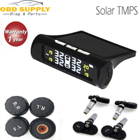 Solar Smart Car TPMS Tyre Pressure Monitoring System Solar Power charging Digital LCD Display Auto Security Alarm Systems
