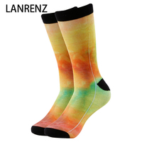2017 Creative Art Gradient Print Men And Women Fashion Funny Socks 3d Printed Socks 200 Knitting
