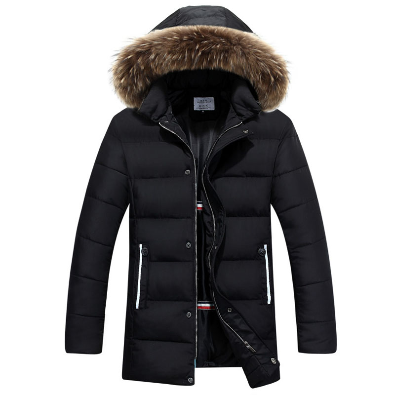 Big Size 3XL Winter Jacket Men Thick Warm Men Coats Parkas Hooded Fur Collar Long Quilted Jacket Male Cotton Wadded Padded Coat 2014 men cotton padded jacket winter jacket men wadded jacket outerwear medium long thickening male winter men coats parkas