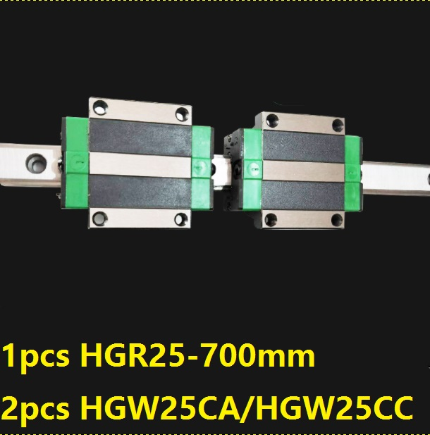 1pcs linear guide rail HGR25 700mm + 2pcs HGW25CC/HGW25CA linear carriage blocks for CNC router parts Made in China комплект колье серьги slava zaitsev комплект колье серьги page 6