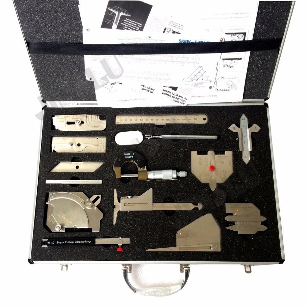Welding Gauge Stainless Steel Welding Measure Gauge Kits Combine Suit 13 piece