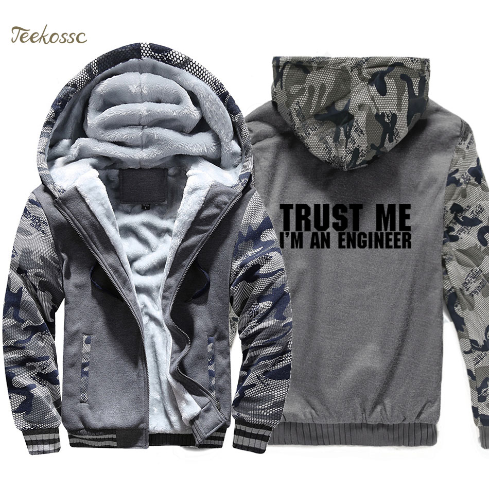 Trust Me I 39 m An Engineer Hoodie Mens Funny Print Sweatshirt Coat 2018 Winter Warm Fleece Thick New Brand Streetwear Mens Jacket in Hoodies amp Sweatshirts from Men 39 s Clothing