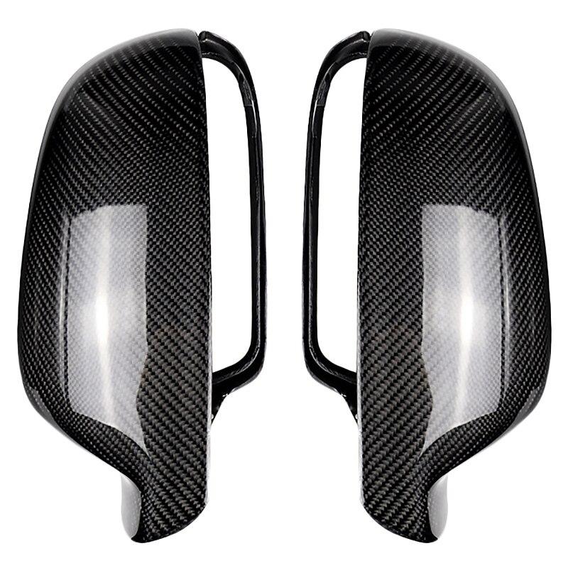 Pour Audi A4 B8.5 2012-2015 A5 B8.5 2013-2016 fibre de carbone côté aile miroir couvre casquettes remplacement décoration