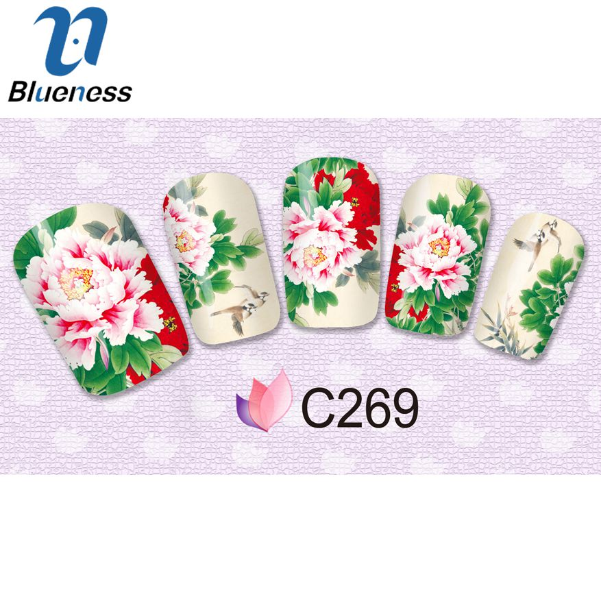 1 Pcs Diy Flower Stickers For Nails 4 Design For Select Chinese