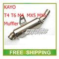 Kayo T6 T4 M4 MX5 MX6 NC250 zongshen xmotos 250cc moto silenciador de escape de la motocicleta accesorios envío gratis