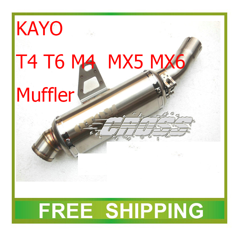 kayo T4 T6 M4 MX5 MX6 zongshen NC250 motorcycle exhaust pipe motorbike muffler xmotos 250cc accessories free shipping free shipping 65 5mm zongshen t4 mx6 cqr250 cb250 dirt bike motorcycle cylinder kits with piston and 15mm pin for kayo t4