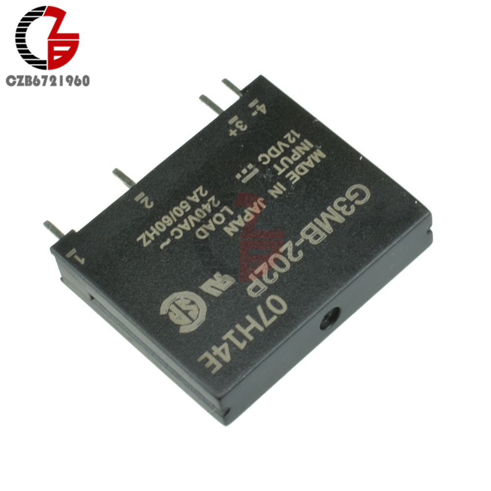 цена на 5PCS G3MB-202P DC-AC PCB SSR In 12VDC AC 2A Out 240V Solid State Relay Module S