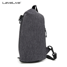 LeveLive 2018 New High Capacity Chest bag Men Crossbody Bag for 9.7 inch Pad Water Repellent Shoulder Bag Male Sling Chest Pack