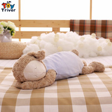 Cute Soft Plush Fat Sheep Ball Toy Stuffed Lamb Sleeping Sheep Doll Pillow Cushion Baby Kids Friend Girl Birthday Gift Triver недорого