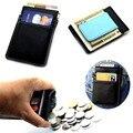 Moda de Múltiples funciones de Corea Del diseño Unisex de Los Hombres de Tarjetas de Cuero Titular de la Tarjeta Monedero Del Dinero Clip carteira billetera delgada