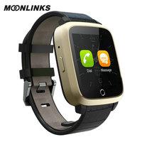 Moonlinks U11S portable 3G smart wach fashion smart watch gps heart rate smartwatch for iphone pulsera inteligente