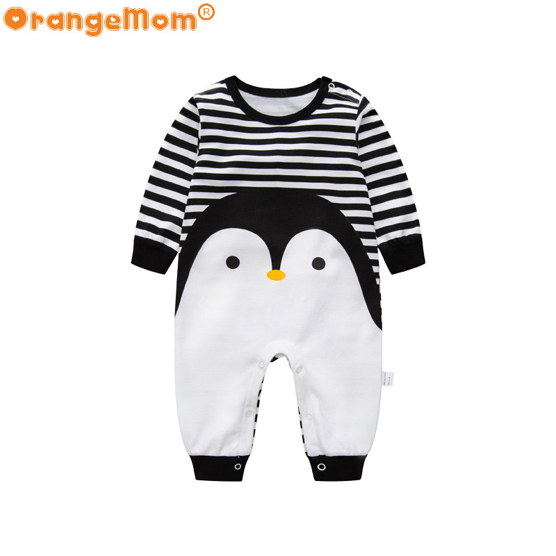 2017 Novelty Baby rompers cartoon Penguin baby boy clothes newborn baby girl clothing , roupas infant  jumpsuit for baby clothes penguin fleece body bebe baby rompers long sleeve roupas infantil newborn baby girl romper clothes infant clothing size 6m