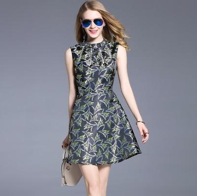 European Style Women Print Runway Ball Gown Dress Ladies Fashion Luxury Diamonds Jacquard Party Dresses Vestidos Mujer