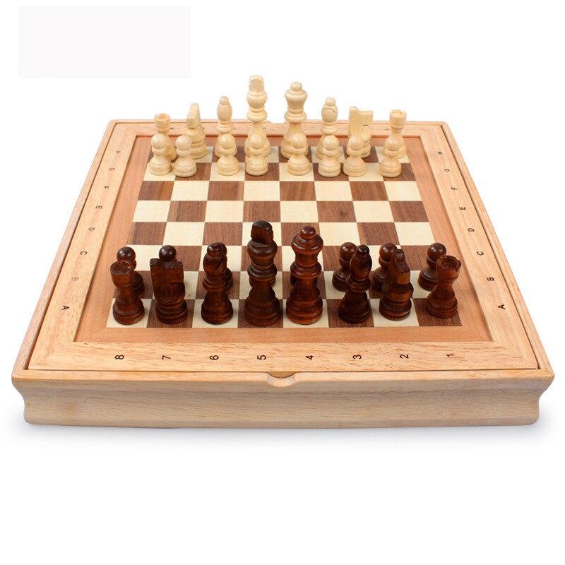 все цены на 2017 High Quality Classic Wooden Chess Set  International Chess Sets Rubber Wood онлайн
