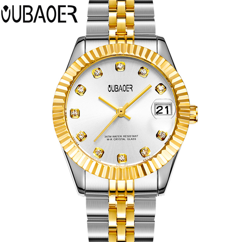 New OUBAOER 2017 Wrist Watch Women Watches Ladies Luxury Brand Quartz Watch For Women Female Clock Relogio Feminino Montre Femme sinobi ceramic watch women watches luxury women s watches week date ladies watch clock montre femme relogio feminino reloj mujer