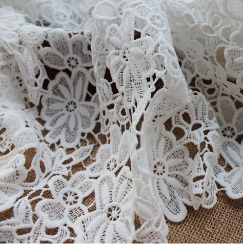 2yards/lot African French Lace Fabric White Cord Fabric/Nigerian Wedding - Rita's DIY House store