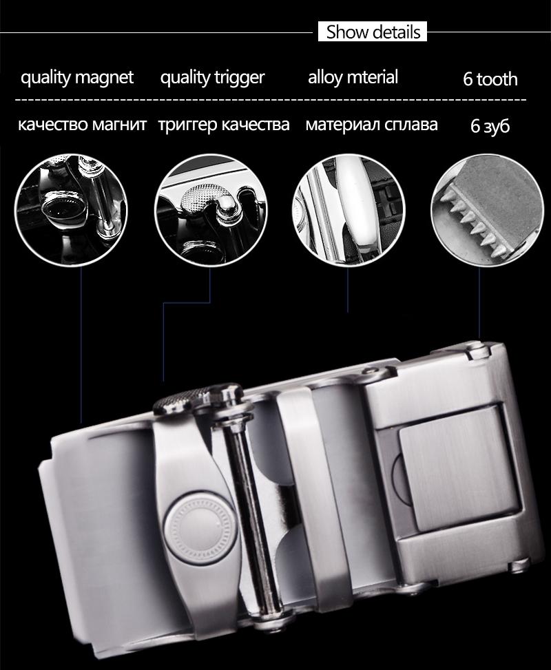 حزام COWATHER جلد طبيعي للرجال ذو جودة عالية 2