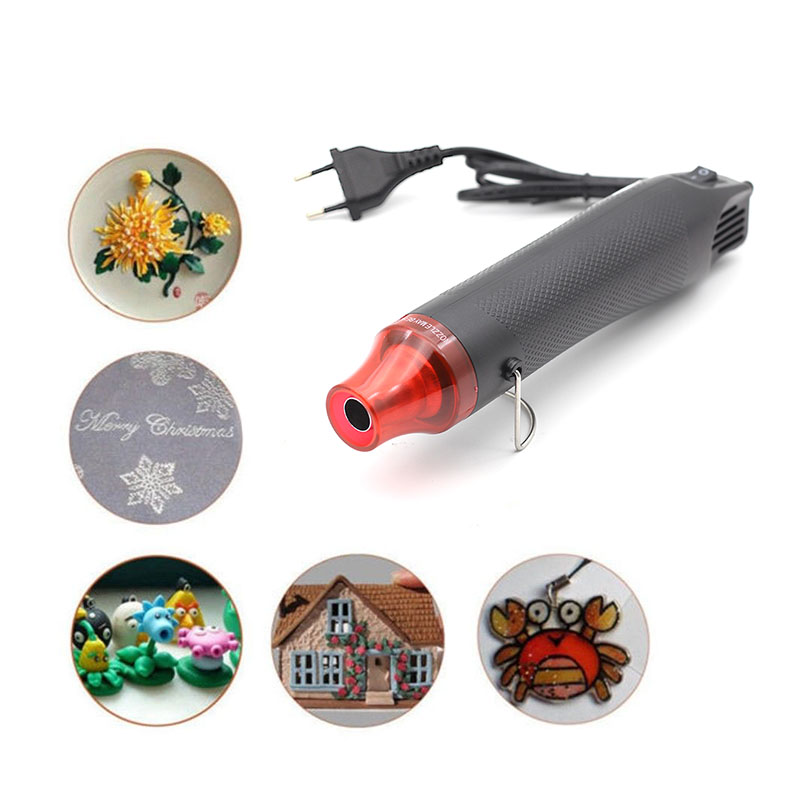 220V 300W Hot Air Gun For DIY Using Electric Hair Dryer Hot Air Tool Soldering Heat Gun Industrial With Supporting Embossing 858