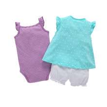 3PCS Clothing Set Short Sleeve and Romper