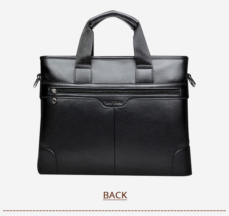 HTB1qJ6CXjzuK1RjSspeq6ziHVXaK 2020 Men's Business Black Casual Bag pu leather Briefcase men's Tote bags Brown High quality male Business large capacity