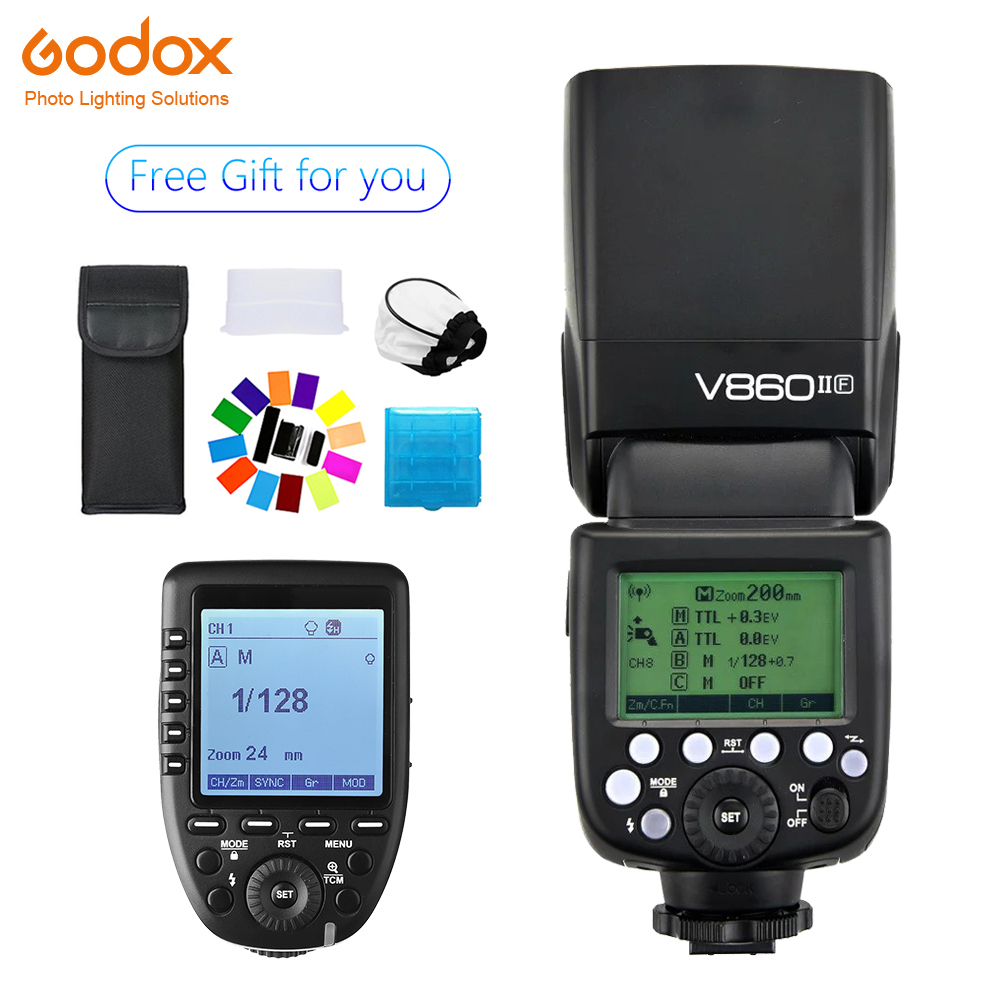 Godox Ving V860II V860II-F Speedlite flash 2.4G GN60 TTL+Xpro-F Wireless Trigger Flash forFujifilm Camera X-Pro2/X-T20 /X-T1/X-T