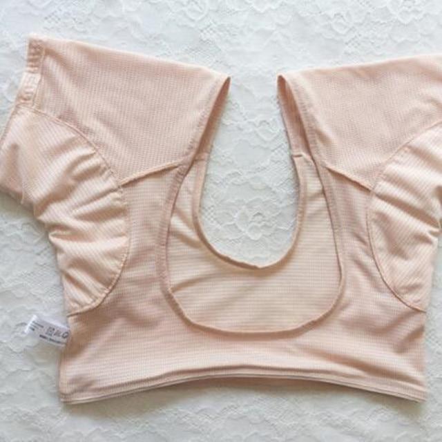 1 Pc forma de camiseta almohadillas de sudor reutilizables lavables axilas almohadillas de sudor Perfume absorbente Anti M Peso del modelo 60 kg