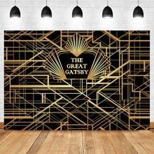 NeoBack Gatsby Birthday Party Photography Backdrop Custom Black Gold Backdrops Studio Shoots