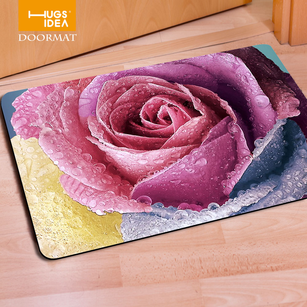 Rubber floor mats bathroom - Aliexpress Com Buy New Art Design Entrance Carpets Funny Floral Rubber Floor Carpet Anti Slip Bathroom Kitchen Bedroom Rug Flower Doormat Tapis From