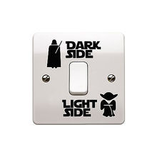 Star wars Dark Side starwars Light Side Interruptor Sticker Niño Habitación Decoración Para El Hogar etiqueta de la pared(China (Mainland))