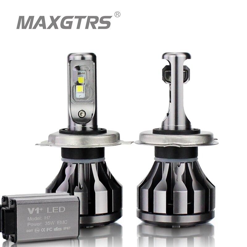 MAXGTRS автомобиля светодиодный фар Canbus H1 H3 H7 H4 светодиодный H8/H11 HB3/9005 HB4/9006 9012 880 881 CSP чип 60 Вт авто лампы фары Противотуманные фары