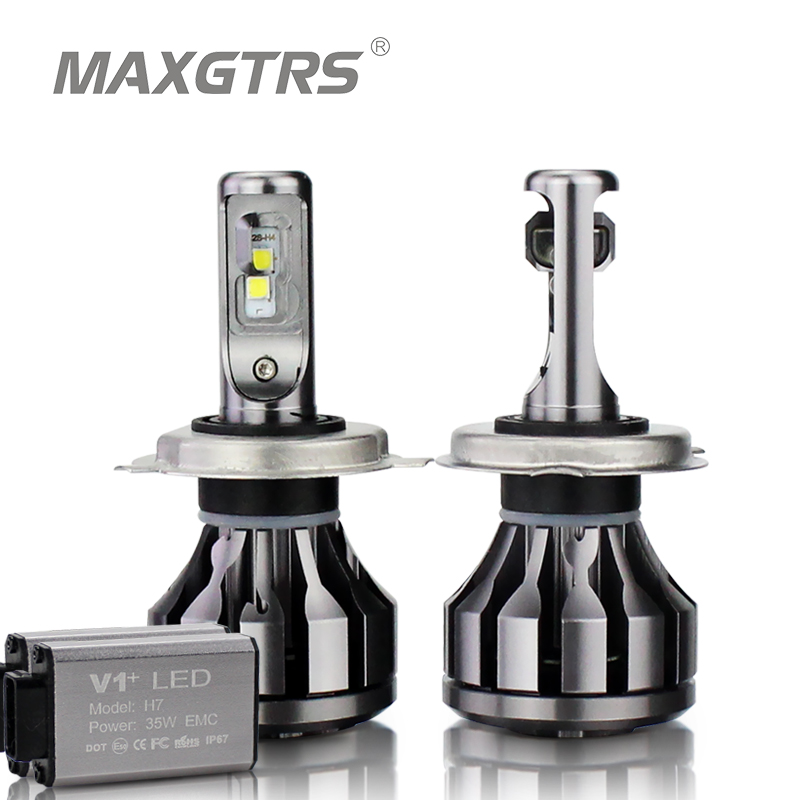 цены MAXGTRS Car LED Headlight Canbus H1 H3 H7 H4 LED H8/H11 HB3/9005 HB4/9006 9012 880 881 CSP Chip 70W Auto Bulb Headlamp Light