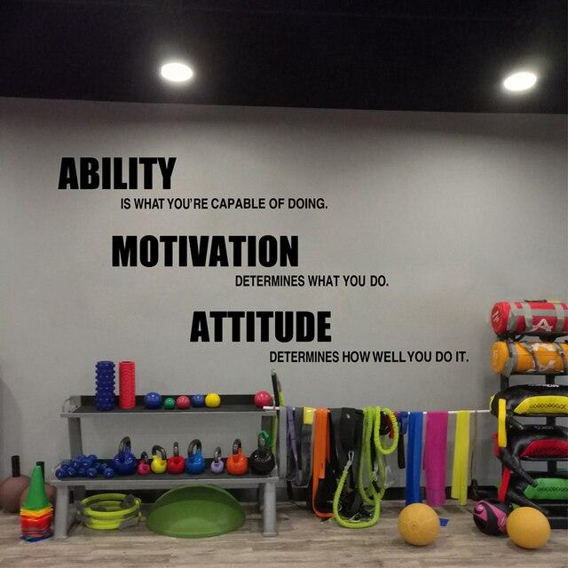 Gym stickers muraux vinyle affiche, Remise En Forme de motivation ...