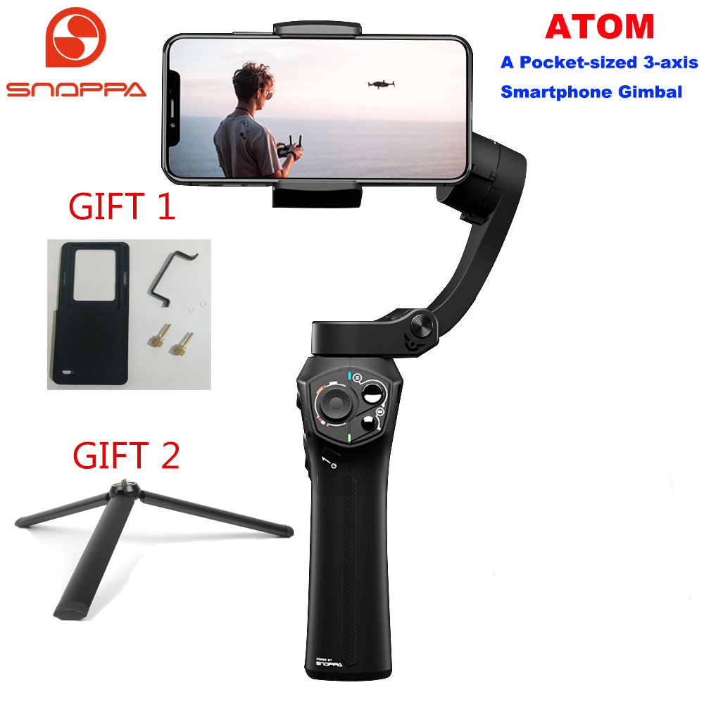 Snoppa Atom 3-Axis Foldable Pocket-Sized Handheld Gimbal Stabilizer for iPhone Smartphone GoPro & Wireless Charging PK Smooth 4Snoppa Atom 3-Axis Foldable Pocket-Sized Handheld Gimbal Stabilizer for iPhone Smartphone GoPro & Wireless Charging PK Smooth 4