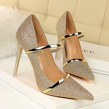 classic High heels pumps women shoes black heels ladies shoes  pointed sequins sexy shoes wedding shoes zapatos mujer tacon crystal bride wedding shoes 2018 new bridesmaid wedding shoes with high heels women pointed sequins silver shoes