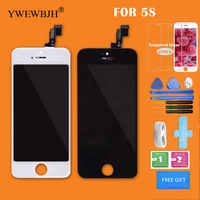 YWEWBJH AAA Quality LCD For iPhone 5S 6G 6S Display Touch Screen Digitizer Glass No Dead Pixel Replacement Parts Black White